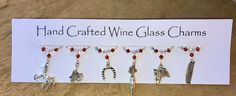 Wine Glass Charms - Horse Themed - Horse Charms - Christmas Stocking Fillers £9.99