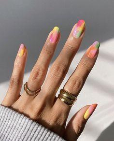 Acrylic Nail Designs, Acrylic Nails, Gel Nails, Nail Manicure, Acrylics, Cute Nails, Pretty Nails, Fancy Nails, Tie Dye Nails