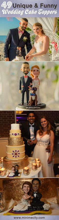 Custom Wedding Cake Toppers that Look like the Bride & Groom! Click to see more pictures ->
