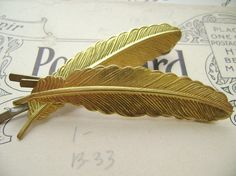 #Feather bobby pins