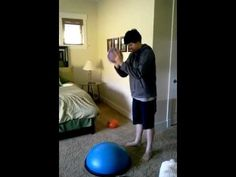 The BOSU ball is a tool I recommend many times in Understanding Your Child's Sensory Signals. It is an excellent, versatile tool for vestibular and proprioce. Sensory Motor, Autism Sensory, Sensory Diet, Sensory Issues, Ot Therapy, Sensory Therapy, Therapy Tools, Therapy Ideas, Occupational Therapy