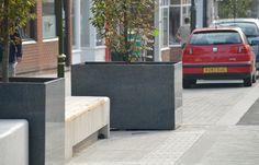 Urban Design with IOTA Granite Planters at Leek, Staffordshire