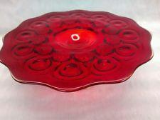 Stunning vtg. L.E. Smith Amberina glass cake pedestal stand desert server