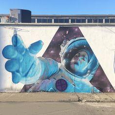 @five8art in Fort Lauderdale. Facilitated by @rollstock / @stockroll.  _____________________________________________ #five8 #five8art #astronaut #rollingstockgallery #stockroll #artbasel2013 #artbasel #mural #art #urbanart #publicart #streetart #fatvillage #fortlauderdale #ftlauderdale #impermanentart #ontour by impermanent_art