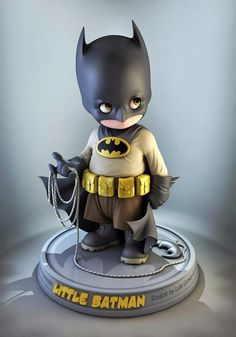 Okay, even for being batman, that's cool. --Little Batman Baby Batman, Superman, Im Batman, Batman Stuff, Batgirl, Catwoman, Character Design Cartoon, 3d Character, Toy Art