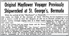 "An article about future Mayflower Pilgrim Stephen Hopkins being shipwrecked in Bermuda in 1609, published in the Boston Herald newspaper (Boston, Massachusetts), 16 June 1957. Read more on the GenealogyBank blog: ""New Discovery about Mayflower Pilgrim Stephen Hopkins."" http://blog.genealogybank.com/new-discovery-about-mayflower-pilgrim-stephen-hopkins.html"