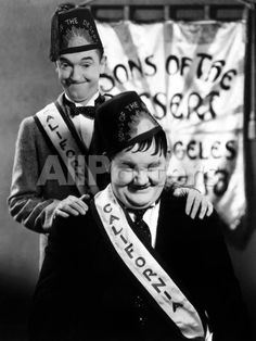 Sons of the Desert, Stan Laurel, Oliver Hardy, 1933 People Photo - 30 x 41 cm