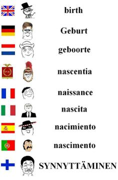 Birth Learn Finnish, Learn German, Stupid Memes, Funny Memes, Jokes, Finnish Memes, Meanwhile In Finland, Finnish Language, Rage Faces