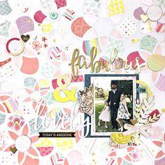 Heather Leopard: Fabulous & Lovely Scrapbook Layout by Heather Leopard