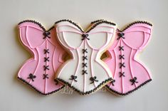 Lizy B: Corset Cookies for. Summer Cookies, Baby Cookies, Baby Shower Cookies, Cute Cookies, Cupcake Cookies, Heart Cookies, Easter Cookies, Christmas Cookies, Wedding Shower Cupcakes