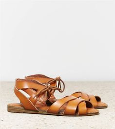 AEO Tie Front Sandal Also, REALLY WANT. American Eagle.