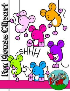 Fun Mouse / Mice Free / Freebie Clipart from Sketchy Guy on TeachersNotebook.com -  (48 pages)  - Fun Mouse Freebie Graphic / Clip art  Included are 36 Color, 6 Grayscale, and 6 Black Lined, PNG/Transparent Clipart.  48 Items Total.