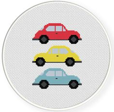 The Beetles Cross Stitch Illustration Simple Cross Stitch, Cross Stitch Baby, Cross Stitch Charts, Cross Stich Patterns Free, Cross Stitch Designs, Free Pattern, Cross Stitching, Cross Stitch Embroidery, Cross Stitch Tutorial