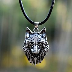 Wolf Jewelry, Cute Jewelry, Baby Wolves, Red Wolves, Geometric Wolf, Wolf Necklace, Wolf Stuff, Wolf Spirit Animal, Wolf Pictures