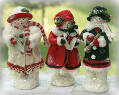 Unique collection of handcrafted Snowmen, Santas & Victorian Christmas Stockings. Some are made in the Folk Art tradition, while others are reminiscent of the Victorian Era. Welcome To Christmas, Christmas Decorations To Make, All Things Christmas, Country Christmas, Christmas Themes, Holiday Decor, Christmas Figurines, Christmas Snowman, Christmas Holidays