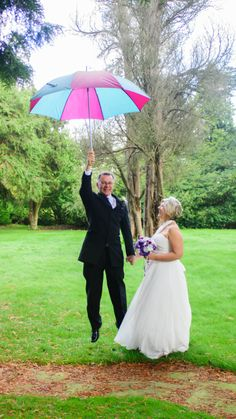 The weather was windy that day, the groom was blown away