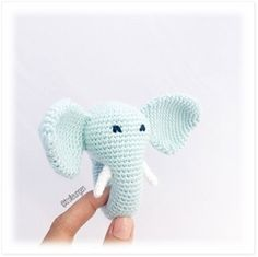 Trolleungen Free Pattern In Danish! Crochet Baby Toys, Crochet For Kids, Crochet Animals, Baby Knitting, Crochet Round, Crochet Motif, Diy Crochet, Crochet Patterns, Crochet Elephant Pattern