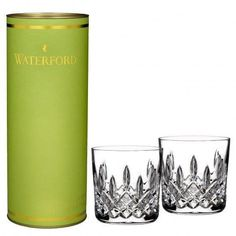 Waterford Giftology Lismore 9oz Tumbler Pair New Gift Canister Hand Signed Okeef