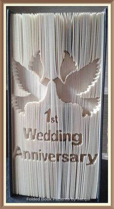 1st Wedding Anniversary Doves. Cut and Fold di JHBookFoldPatterns