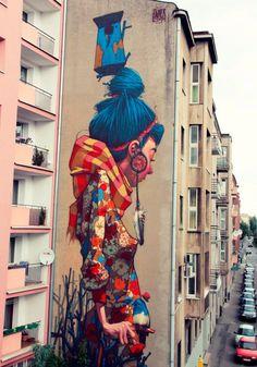 Граффити на улицах польских городов
