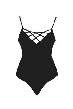2015 Issa de' mar Black Sao Paolo Onesie >> Shop now on stillandsea.com