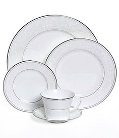 Our Formal China Dinnerware: Nikko Pearl Symphony China #Dillards ~We Need 2 More Sets to Complete Our Table Setting~