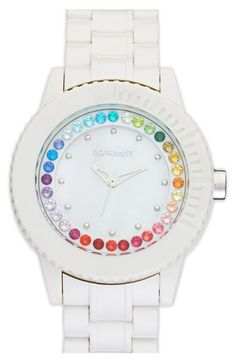 SPROUT™ Watches Crystal Bezel Bracelet Watch, 45mm available at #Nordstrom...