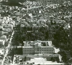 1950's ~ Downtown Athens from above