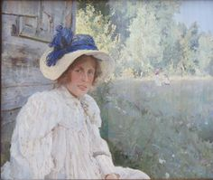 "Valentin Serov, ""Portrait of Artist's Wife, Olga Serova"", 1895, oil on canvs Tretyakov Gallery"