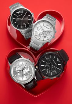 V-day gift: It's time for love! EMPORIO ARMANI #watch BUY NOW!