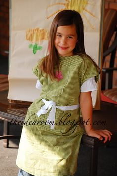 Cute & perfect use of an old man's dress shirt!