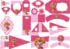 Paw Patrol for Girls: Free Printable Kit. - Oh My Fiesta! in english Sky Paw Patrol, Paw Patrol Party, Paw Patrol Birthday, Puppy Birthday, Free Printable Party Invitations, Party Printables, Free Printables, Girls Party Decorations, Kids Party Themes