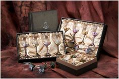 high-end packaging boxes for wine glasses