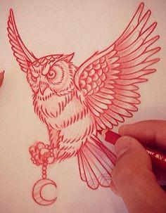 Совы – тату эскизы • Идеи татуировок с совой • Сова – значение тату