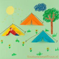Tent knutselen voor de vakantie