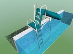 above ground pool deck with slide google search more