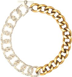 Lanvin gold and silver 'Gourmette' necklace