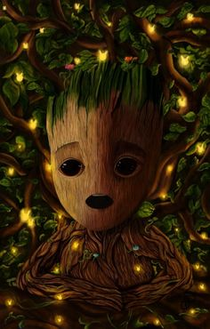An old painting I did of Baby Groot about four months ago! Groot Avengers, Avengers Art, Cute Disney Wallpaper, Cute Cartoon Wallpapers, Amazing Drawings, Cute Drawings, Baby Groot Drawing, Marvel Background, Warrior Cats