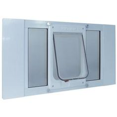 Ideal Pet Products Aluminum Sash Window Large White Pet Door (Actual: x at Lowe's. The Ideal Pet ChubbyKat Sash Window door is specially designed for large cats and small dogs. It is an entry system that you and your pet can rely on. It Dog Door Insert, Dog Door Flaps, Sash Windows, Windows And Doors, Chat Lynx, Cat Door For Window, Best Dog Door, Aluminium Windows, Cat Supplies