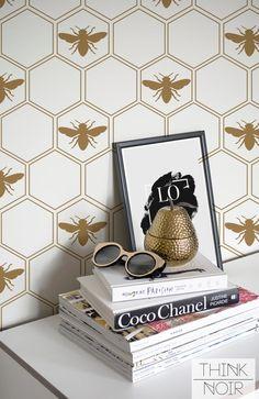 Geometric Honeycomb Wallpaper / Geometric by ThinkNoirWallpaper