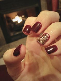 Fall/Christmas nails