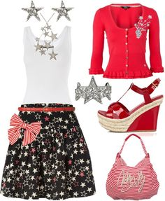 4th of July Picnic, created by azurafae on Polyvore