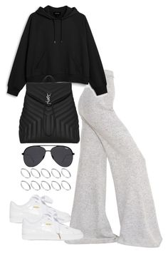 """""""Untitled #4011"""" by theeuropeancloset on Polyvore featuring STELLA McCARTNEY, Monki, Puma, Yves Saint Laurent, Quay and ASOS"""