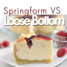 What's the difference between a springform pan and one with a removable bottom? That's a question we get asked a lot, learn which one is right for you.