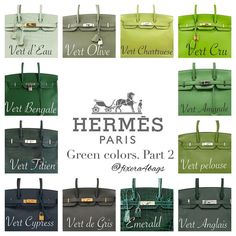 e are some standard Hermes colors and how it looks on the Birkin. I've taken these pictures from various sources and complied them for easy reference. Chanel Handbags 2017, Fall Handbags, Fashion Handbags, Purses And Handbags, Fashion Bags, Fashion Fashion, Runway Fashion, Fashion Trends, Fashion Accessories