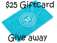 Enter to win a $25 honest giftcard through PinnyPop!