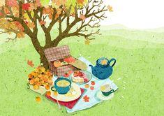Mountain Illustration, Book Illustration, Watercolor Illustration, Watercolor Art, Spring Drawing, Freelance Illustrator, Illustrations And Posters, Texture Art, Tea Time