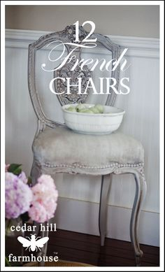 12 Different French chairs covered in this post! Where they were purchased and tips for buying!!! You won't believe the deals.