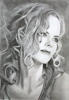 Nicole Kidman. Pencil drawing., via Flickr.