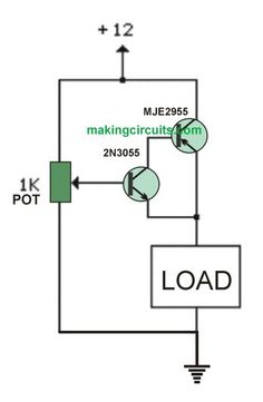 This simplest variable 0-100V power supply circuit will allow the user to get a seamlessly adjustable output voltage, which could e fixed at any desired level. The power supply ca handle as high as 10 amps which looks adequate for most electronic circuit requirement. A straightforward yet an effective technique of Simple Electronic Circuits, Electronic Circuit Design, Electronic Engineering, Diy Electronics, Electronics Projects, Subwoofer Box Design, Diy Amplifier, Power Supply Circuit, Simple Circuit